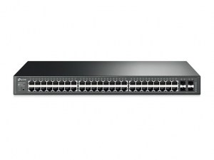 Switch TP-Link inteligente Gigabit JetStream de 48 T1600G-52TS  puertos con 4 ranuras SFP